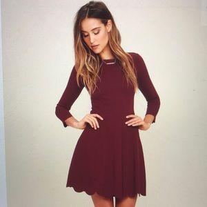 NWT Lulus Skater Dress